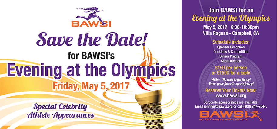 Save the Date for BAWSI's Evening at the Olympics - Friday, May 5, 2017